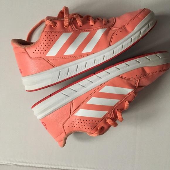 Kids Adidas Altasport Trainers Coral/Wht Sz 3 GUC